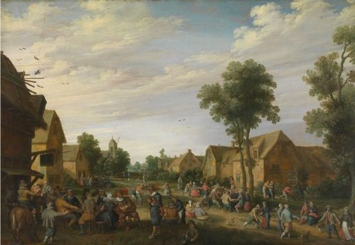 A village kermesse | Joost Cornelisz. Droochsloot | Oil Painting