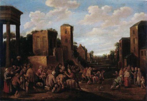 Cripples Seeking the Health | Joost Cornelisz. Droochsloot | Oil Painting