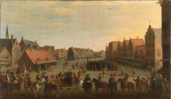 The disbanding of mercenaries by Prince Maurits in Utrecht