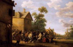 Brawling Peasants | Joost Cornelisz. Droochsloot | Oil Painting
