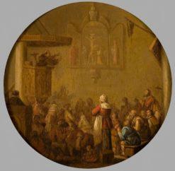 The Sermon | Joost Cornelisz. Droochsloot | Oil Painting