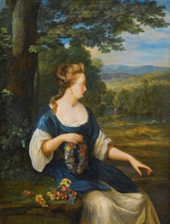 Portrait of a Young Woman Seated in a Landscape | Eglon Hendrick van der Neer | Oil Painting