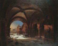 Sunset upon Walkenried Cloisters | Carl Hasenpflug | Oil Painting