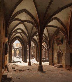 Cloister Ruins in Winter | Carl Hasenpflug | Oil Painting