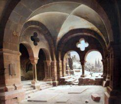 Cloisters in Winter   Carl Hasenpflug   Oil Painting