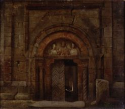 Northwest portal of the Godehardikirche | Carl Hasenpflug | Oil Painting