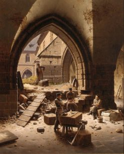 ?loister of the Liebfrauenkirche Halberstadt | Carl Hasenpflug | Oil Painting