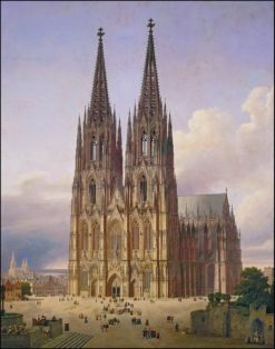 View of the Cologne Cathedral from the southwest | Carl Hasenpflug | Oil Painting