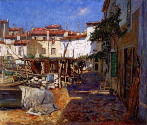 In the Port of Marseille | Mikhail Tkachenko | Oil Painting