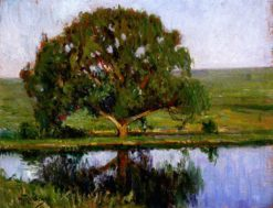Landscape with a Tree | Mikhail Tkachenko | Oil Painting