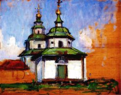 A Wooden Church | Mikhail Tkachenko | Oil Painting