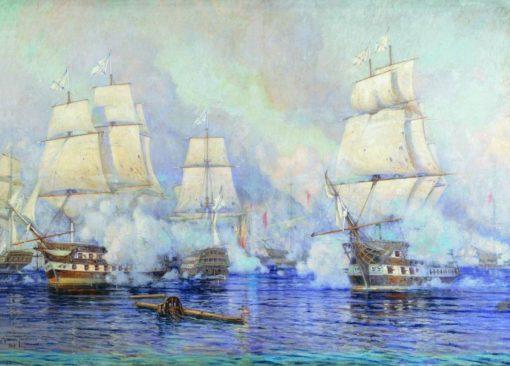 The Battle of Navarin | Mikhail Tkachenko | Oil Painting