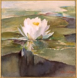 Water Lily in Sunlight | John La Farge | Oil Painting