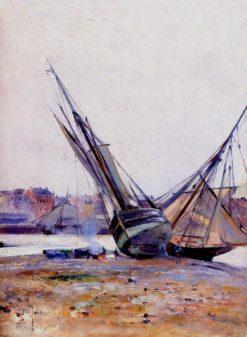 Boats on the Beach | Mikhail Tkachenko | Oil Painting