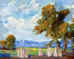 Paisaje con Damas en el Campo (also known as Landscape with Ladies in the Countryside) | Alfredo Ramos Martinez | Oil Painting