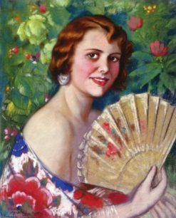 Marguerita en Flores (also known as Portrait of May C. Healy) | Alfredo Ramos Martinez | Oil Painting