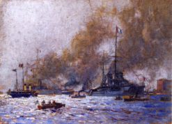 French Warships | Mikhail Tkachenko | Oil Painting