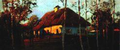 Cottage at Sunset | Mikhail Tkachenko | Oil Painting