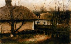 Cottages | Mikhail Tkachenko | Oil Painting