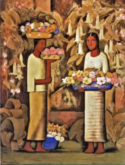 Mujeres con Flores (also known as Women with Flowers) | Alfredo Ramos Martinez | Oil Painting
