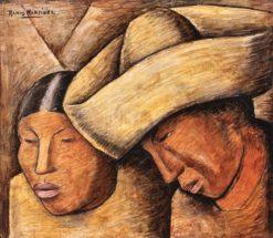 Paraja India (also known as Indian Couple) | Alfredo Ramos Martinez | Oil Painting