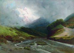 Alpine River | Arseny Meschersky | Oil Painting