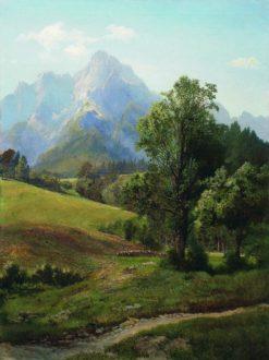 Alpine Landscape | Arseny Meschersky | Oil Painting