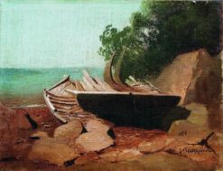 Boats on the Beach | Arseny Meschersky | Oil Painting