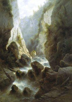 The Daryala Gorge | Arseny Meschersky | Oil Painting