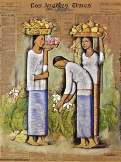 Mujeres con Frutas y Flores (also known as Women with Fruit and Flowers) | Alfredo Ramos Martinez | Oil Painting