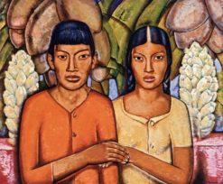 Casamiento Indio II (also known as Indian Wedding II) | Alfredo Ramos Martinez | Oil Painting