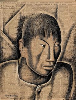 Cabeza Indigena (also known as Indian Head) | Alfredo Ramos Martinez | Oil Painting