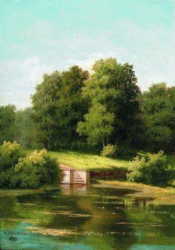 An Overgrown Pond | Arseny Meschersky | Oil Painting