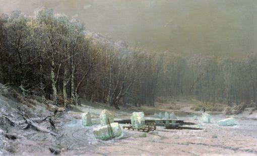Winter   Arseny Meschersky   Oil Painting