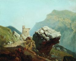 Fortress in the Mountains | Arseny Meschersky | Oil Painting