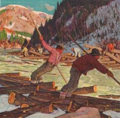 Loggers | Clarence Gagnon | Oil Painting