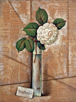 Camelia Blanca (Camelia en Jarrón de Cristal (also known as White Camelia (Camelia in Glass)) | Alfredo Ramos Martinez | Oil Painting