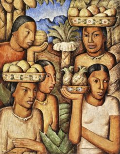 Vendedoras de Frutas (also known as Fruit Vendors)   Alfredo Ramos Martinez   Oil Painting