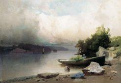 River Landscape | Arseny Meschersky | Oil Painting