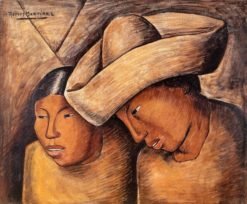 Juan y Lupe (also known as Juan and Lupe) | Alfredo Ramos Martinez | Oil Painting