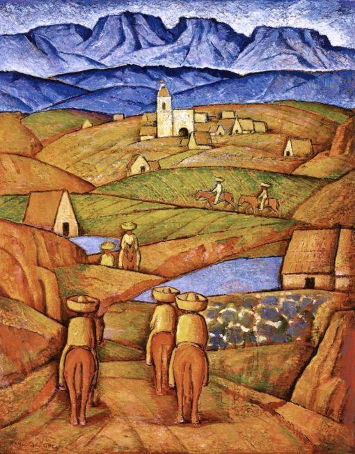 Los Charros del Pueblo (also known as The Charros in the Village) | Alfredo Ramos Martinez | Oil Painting