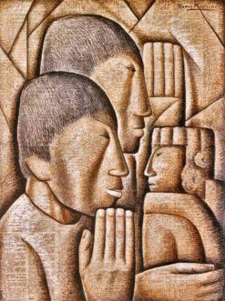Adoración de Indios (also known as Indians Worship) | Alfredo Ramos Martinez | Oil Painting
