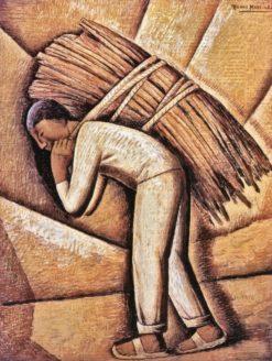 El Cargador de Leña (also known as The Lumber Carrier) | Alfredo Ramos Martinez | Oil Painting