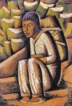 Vendedor de Pulque (also known as Pulque Vendor)   Alfredo Ramos Martinez   Oil Painting