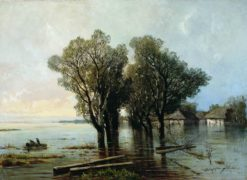 Flood in the Village | Arseny Meschersky | Oil Painting