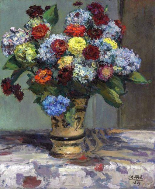 Bouquet de fleurs aux hortensias | Jacques-Émile Blanche | Oil Painting