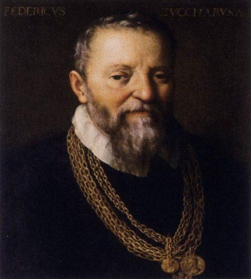 Portrait of Federico Zuccari   Fede Galizia   Oil Painting