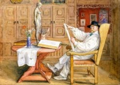 Self-portrait (also known as Self-Portrait In the studio) | Carl Larsson | Oil Painting