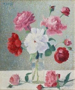 A bunch of roses | Achille Laugé | Oil Painting