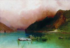Lake in Dagestan | Arseny Meschersky | Oil Painting